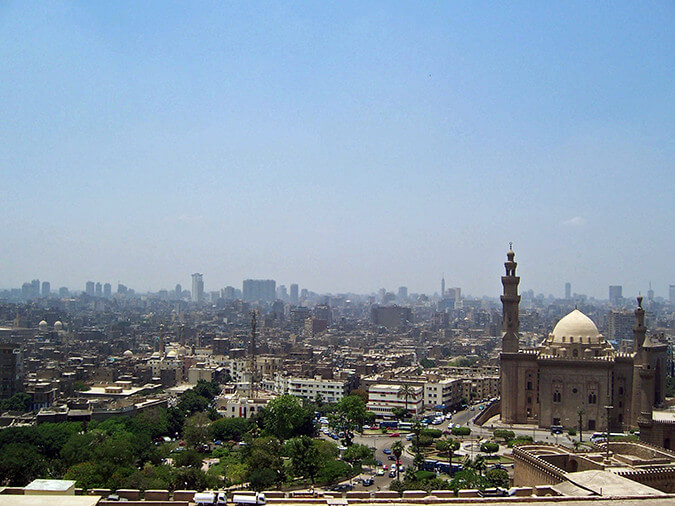 a photo of the Cairo cityscape