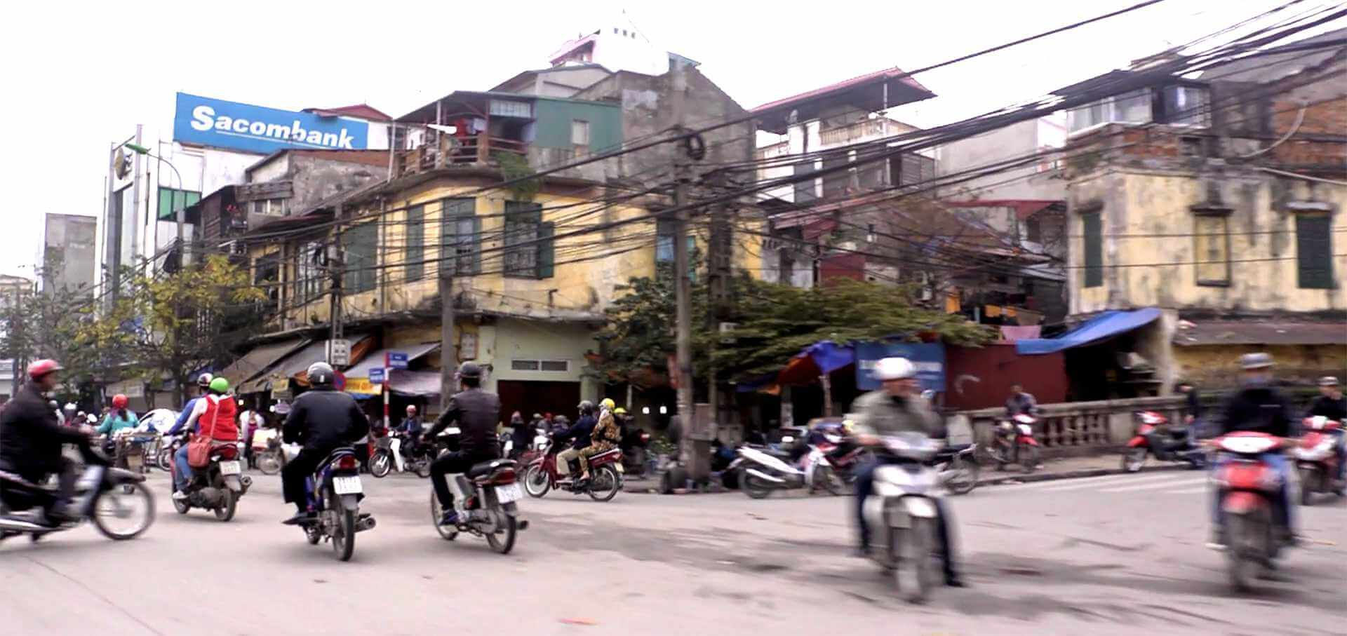 A Hanoi traffic intersection