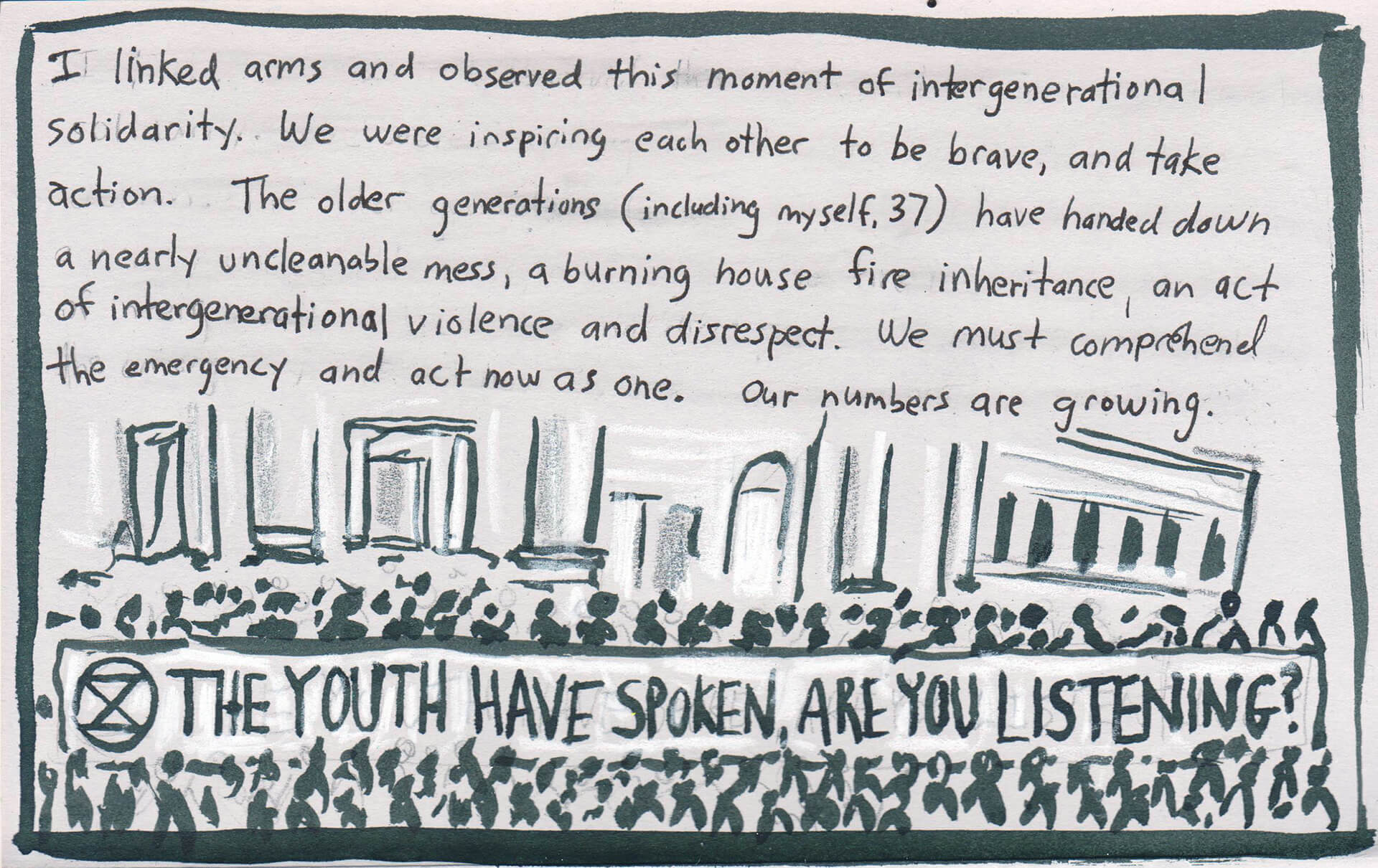 Youth Climate Strike, illustration by Noah Mayers