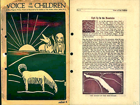 Two pages from a 1922 issue of Voice of the Children, courtesy of Special Collections and University Archives, Rutgers University Libraries